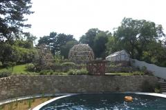 Basisstruktur Rankgerüst in Designergarten